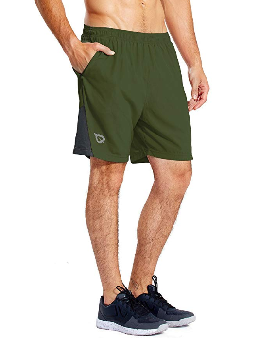 Baleaf Men's 7 Quick Dry Workout Running Shorts
