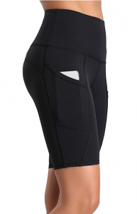 Oalka Women's Short Yoga Side Pockets