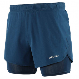 BERGRISAR Men's Active Workout Running Shorts 2 in 1