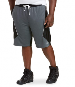 Reebok Speedwick Retro Colorblock Basketball Shorts, Grey Black