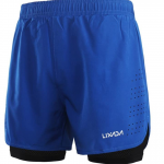 Lixada Men's 2-in-1 Running Shorts