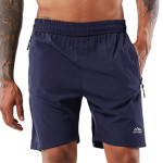 YAWHO Men's Workout Running Shorts