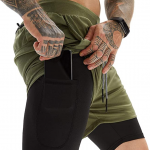 OEBLD Mens Athletic Shorts 2-in-1