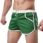 Rexcyril Men's Green Running Workout Gym Shorts