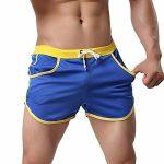 Rexcyril Men's Running Workout Bodybuilding Gym Shorts