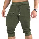 faskunoie green running shorts