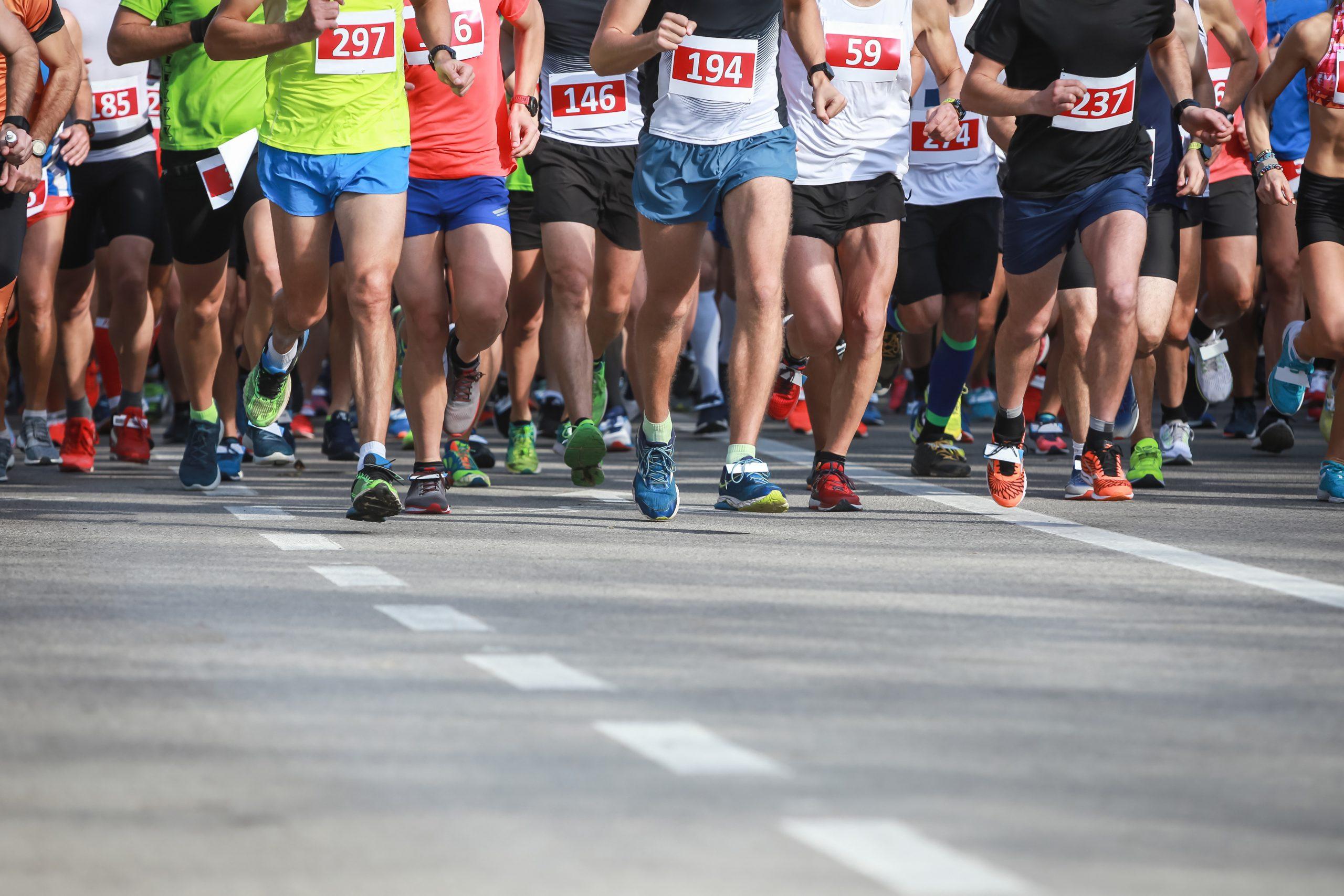 runners in marathon running shorts