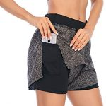 Cucuchy Women's Running Yoga Shorts Double-Layer Athletic Workout Pants with Pocket
